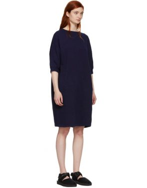 photo Indigo Bump Inlay Pullover Dress by Blue Blue Japan - Image 2