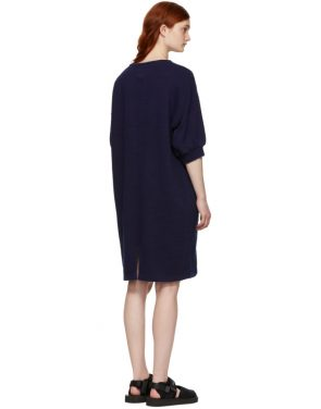 photo Indigo Bump Inlay Pullover Dress by Blue Blue Japan - Image 3