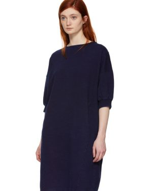 photo Indigo Bump Inlay Pullover Dress by Blue Blue Japan - Image 4