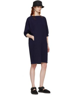 photo Indigo Bump Inlay Pullover Dress by Blue Blue Japan - Image 5