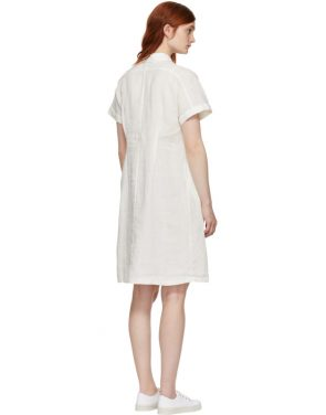 photo White Wide Shirt Dress by Blue Blue Japan - Image 3