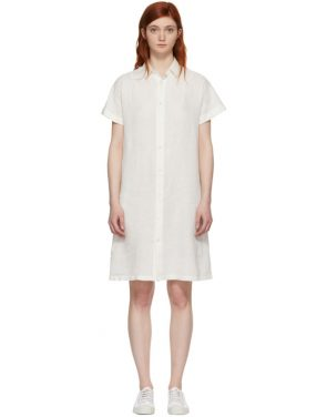 photo White Wide Shirt Dress by Blue Blue Japan - Image 1