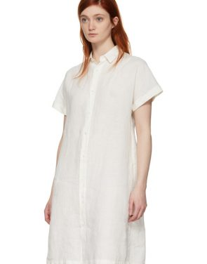 photo White Wide Shirt Dress by Blue Blue Japan - Image 4