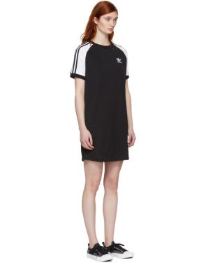 photo Black and White Raglan Dress by adidas Originals - Image 2