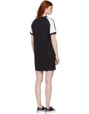 photo Black and White Raglan Dress by adidas Originals - Image 3