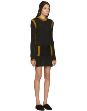 photo Black Paris Stripe Sweater Dress by Wales Bonner - Image 2