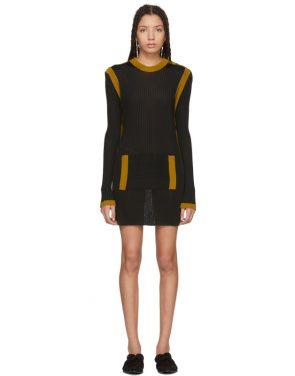 photo Black Paris Stripe Sweater Dress by Wales Bonner - Image 1