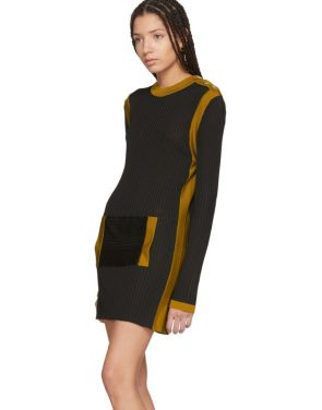 photo Black Paris Stripe Sweater Dress by Wales Bonner - Image 4