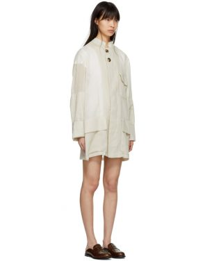 photo Beige Oversized Safari Jacket Dress by Wales Bonner - Image 2