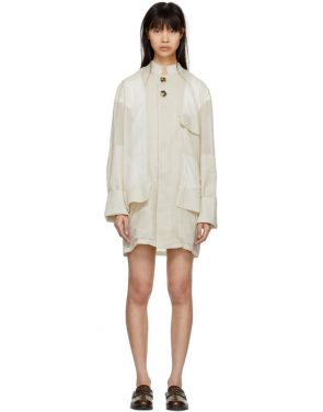 photo Beige Oversized Safari Jacket Dress by Wales Bonner - Image 1
