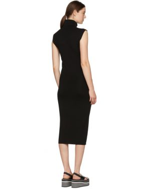photo Black Wool Valpariso Turtleneck Dress by Toteme - Image 3