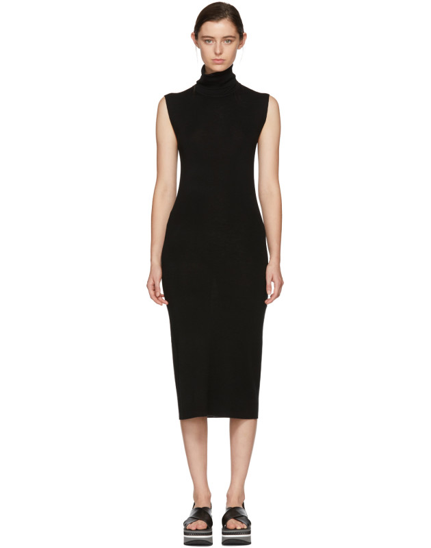 photo Black Wool Valpariso Turtleneck Dress by Toteme - Image 1