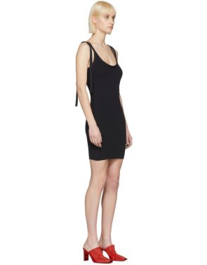 photo Black Tie Shoulder Rib Dress by Alyx - Image 2