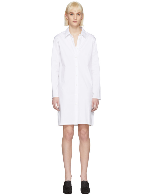 photo White Brigitte Shirt Dress by Alyx - Image 1