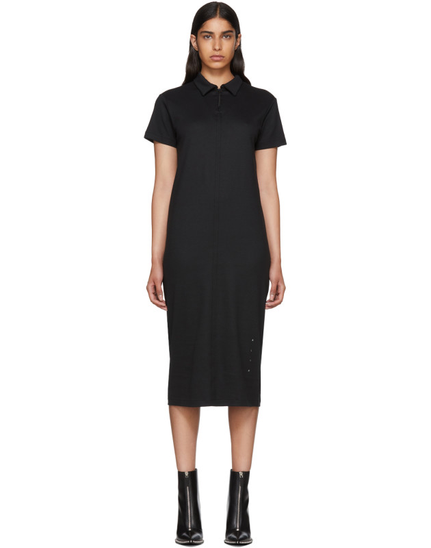 photo Black Polo Shirt Dress by Alyx - Image 1