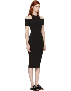 photo Black Fitted Cut-Out Dress by Victoria Beckham - Image 2