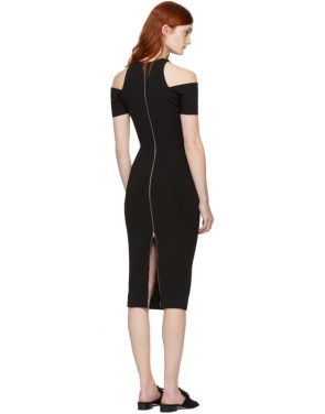 photo Black Fitted Cut-Out Dress by Victoria Beckham - Image 3