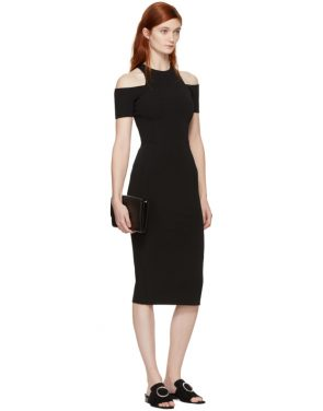 photo Black Fitted Cut-Out Dress by Victoria Beckham - Image 4
