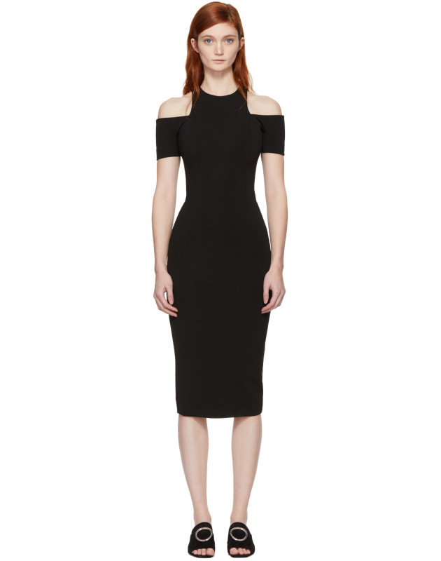 photo Black Fitted Cut-Out Dress by Victoria Beckham - Image 1