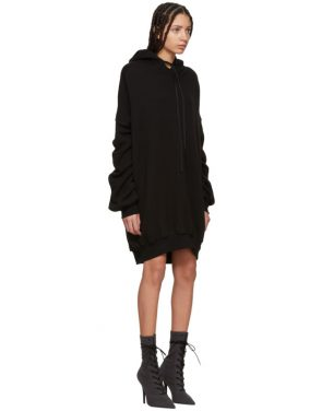 photo Black Hooded Dress by Unravel - Image 2