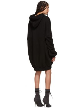 photo Black Hooded Dress by Unravel - Image 3