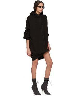 photo Black Hooded Dress by Unravel - Image 5