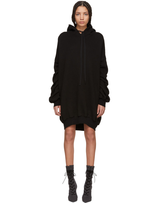 photo Black Hooded Dress by Unravel - Image 1
