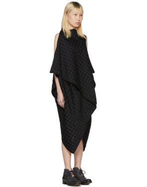 photo Black Drape Square Dress by Issey Miyake - Image 2