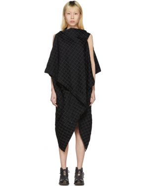 photo Black Drape Square Dress by Issey Miyake - Image 1