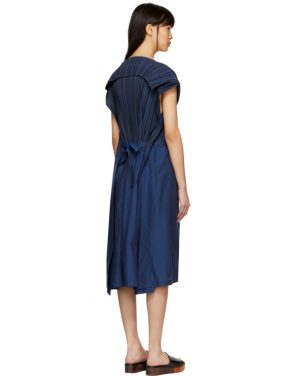 photo Blue Frame Pleats Dress by Issey Miyake - Image 3