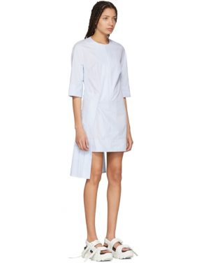 photo Blue and White Striped Hyphen Dress by Eckhaus Latta - Image 2