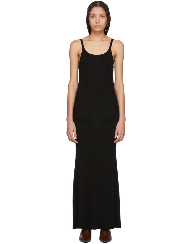 photo Black Tank Rib Dress by Wendelborn - Image 1