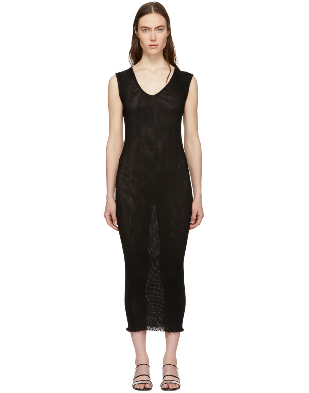 photo Black Cotton Accordion Dress by Lauren Manoogian - Image 1