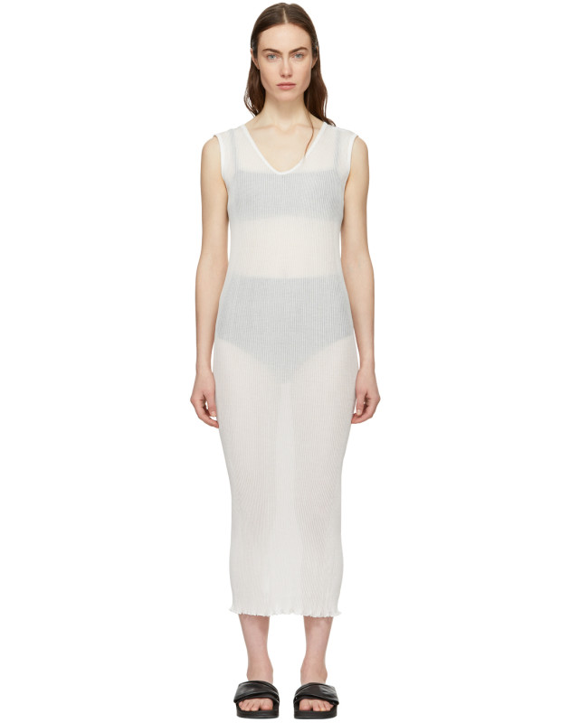 photo White Cotton Accordion Dress by Lauren Manoogian - Image 1