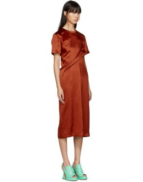 photo Orange Waverly Twist Dress by Sies Marjan - Image 2
