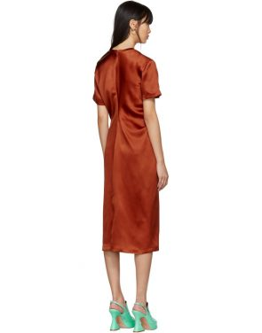 photo Orange Waverly Twist Dress by Sies Marjan - Image 3
