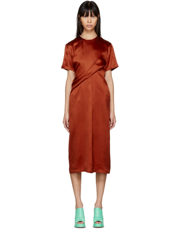 photo Orange Waverly Twist Dress by Sies Marjan - Image 1