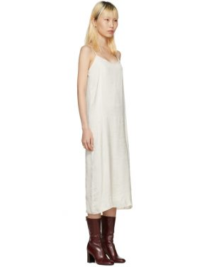 photo Off-White Portrait Long Slip Dress by Moderne - Image 2
