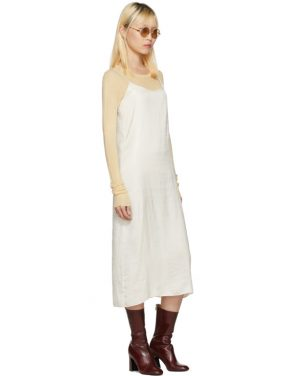 photo Off-White Portrait Long Slip Dress by Moderne - Image 5