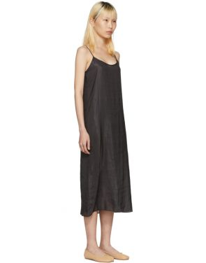 photo Black Portrait Long Slip Dress by Moderne - Image 2