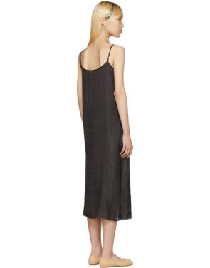 photo Black Portrait Long Slip Dress by Moderne - Image 3