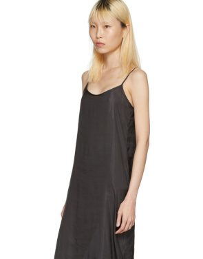 photo Black Portrait Long Slip Dress by Moderne - Image 4