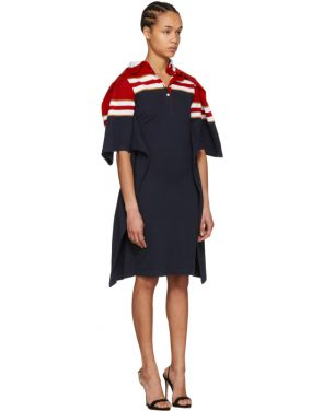 photo Red and Navy Striped Polo Dress by Y/Project - Image 2