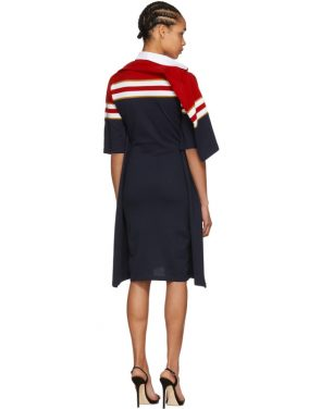 photo Red and Navy Striped Polo Dress by Y/Project - Image 3