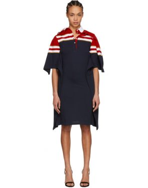 photo Red and Navy Striped Polo Dress by Y/Project - Image 1