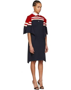 photo Red and Navy Striped Polo Dress by Y/Project - Image 4