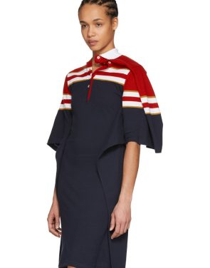 photo Red and Navy Striped Polo Dress by Y/Project - Image 5
