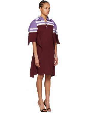 photo Violet and Burgundy Striped Polo Dress by Y/Project - Image 2