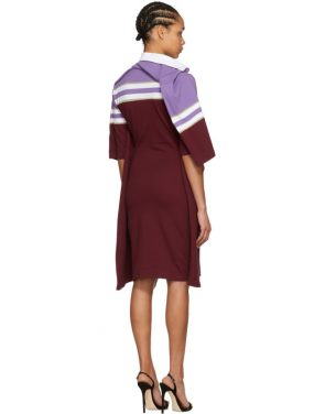 photo Violet and Burgundy Striped Polo Dress by Y/Project - Image 3