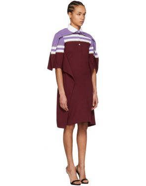 photo Violet and Burgundy Striped Polo Dress by Y/Project - Image 4